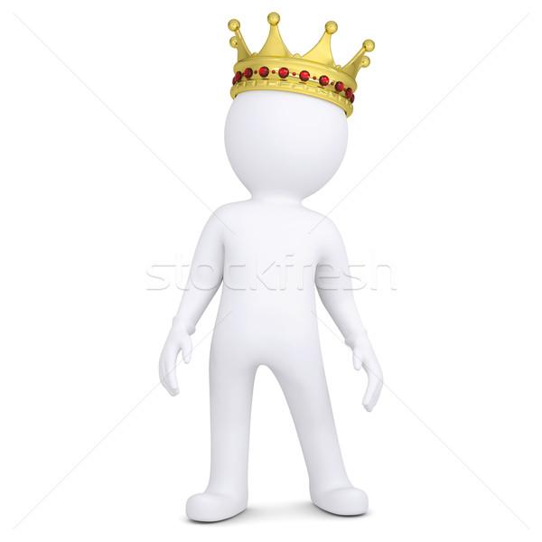 3d white man with a crown Stock photo © cherezoff