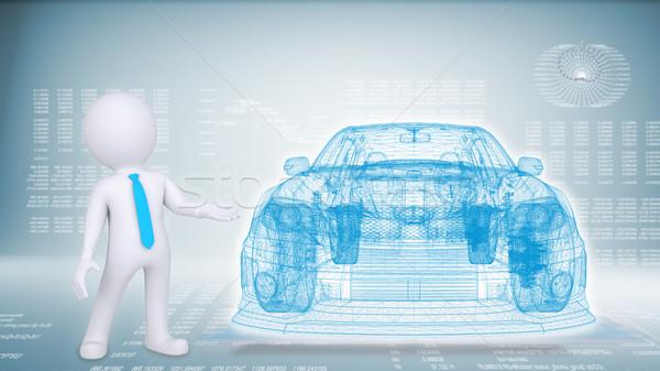 Foto stock: Personas · coche · azul · futuro · conocimiento