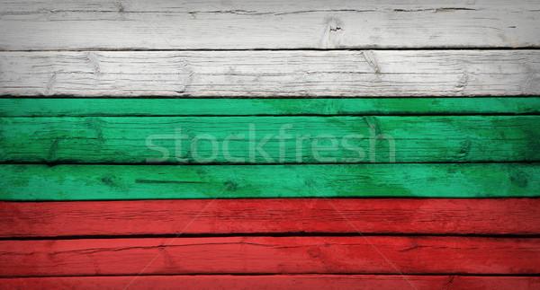 ブルガリア フラグ 描いた 木製 グランジ スタイル ストックフォト © cherezoff