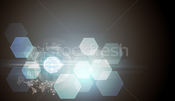 Abstract background with world map Stock photo © cherezoff