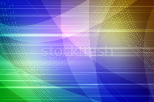 抽象的な 青 黄色 波 光 芸術 ストックフォト © cherezoff
