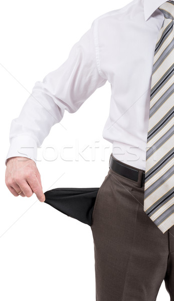 Businessman turned out his pocket Stock photo © cherezoff