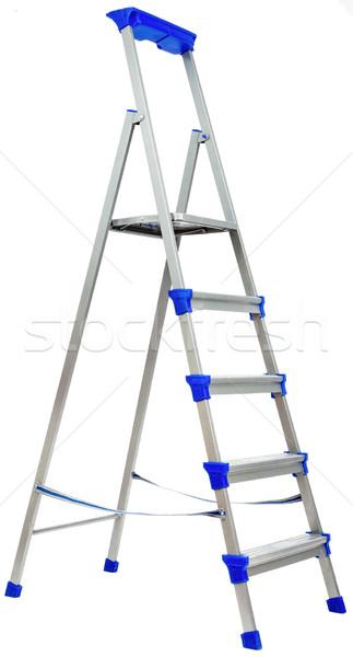 металл лестнице синий пластиковых Элементы изолированный Сток-фото © cherezoff