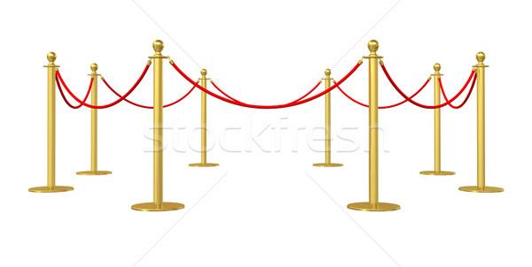 Dourado barricar isolado branco ilustração 3d internet Foto stock © cherezoff