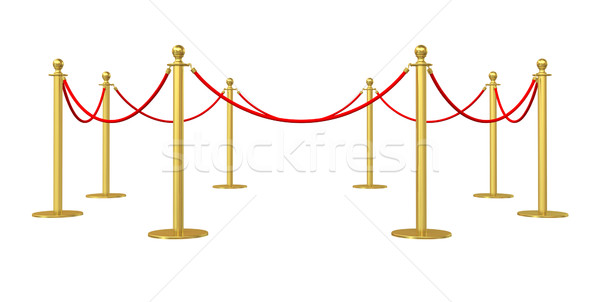 Dorado barricada aislado blanco 3d Internet Foto stock © cherezoff