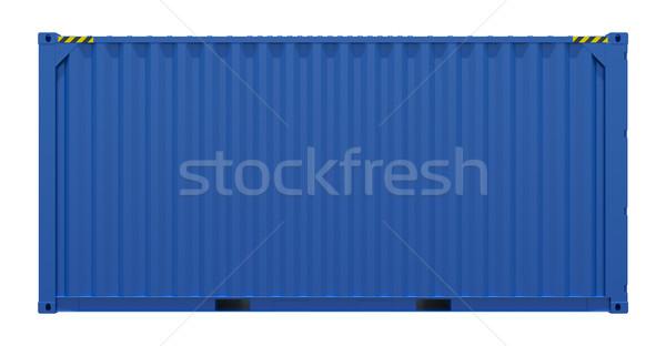 青 送料 コンテナ 3D レンダリング 側面図 ストックフォト © cherezoff