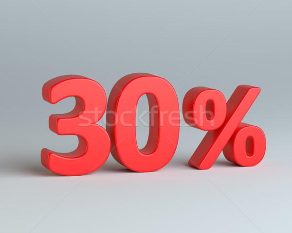 Kırmızı otuz yüzde imzalamak gri iş Stok fotoğraf © cherezoff