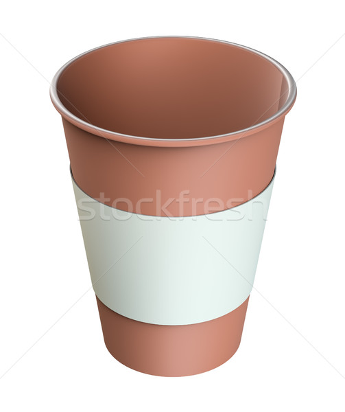 Café jetable tasse isolé blanche 3d illustration Photo stock © cherezoff