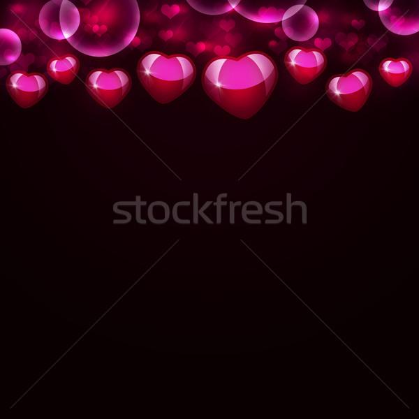 аннотация пурпурный сердцах стены обои Сток-фото © cherezoff