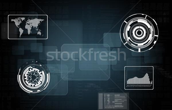 Mapa do mundo transparente gráficos mundo fundo traçar Foto stock © cherezoff