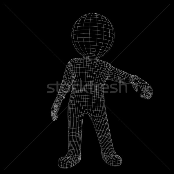 Wire-frame man Stock photo © cherezoff