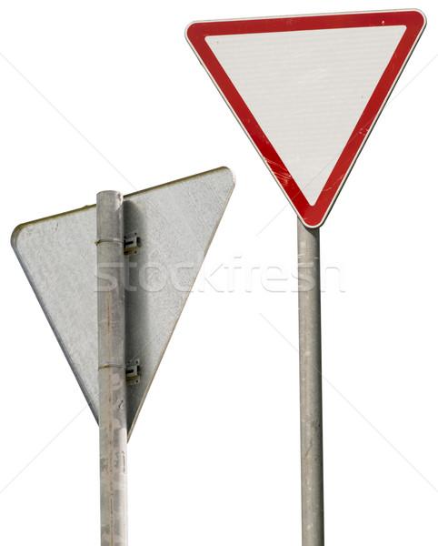 Vermelho branco sinaleiro isolado Foto stock © cherezoff
