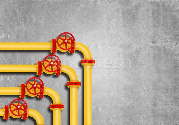 Gas pijpen grijs muur olie natuur Stockfoto © cherezoff