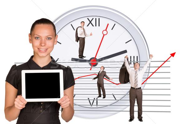 Foto stock: Pessoas · de · negócios · diferente · abstrato · branco · mulher · mãos