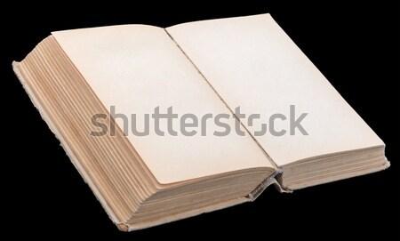 Open boek lege bladeren zwarte Stockfoto © cherezoff
