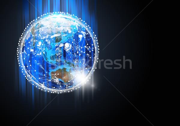 Foto stock: Terra · sol · planeta · terra · imagem · fundo