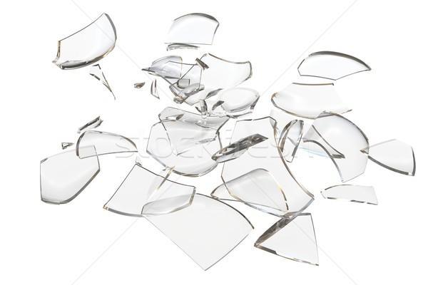 Vidrio objeto 3D resumen manzana Foto stock © cherezoff