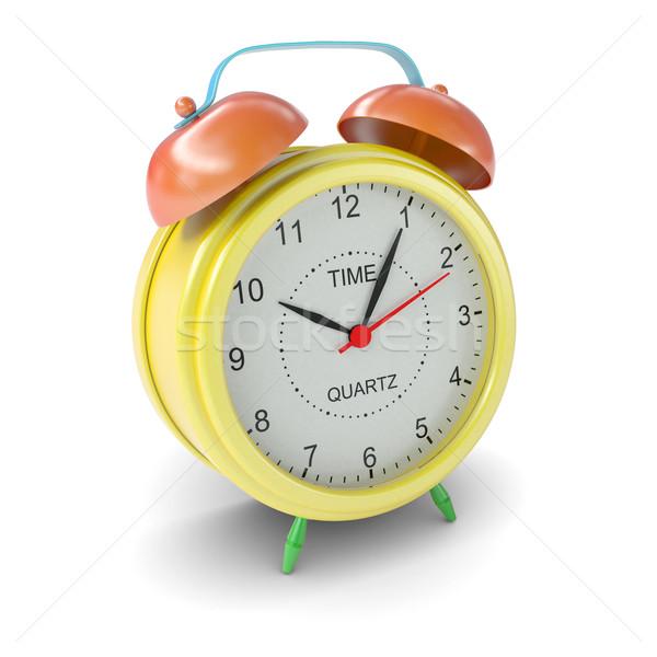 Multicolored alarm clock on white background Stock photo © cherezoff