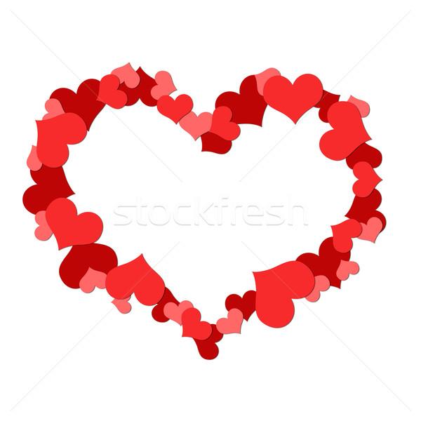 Big heart made up of little hearts Stock photo © cherezoff