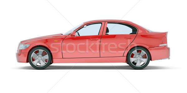 Red car on white Stock photo © cherezoff