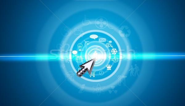 Imleç sanal ekran semboller mavi farklı Stok fotoğraf © cherezoff