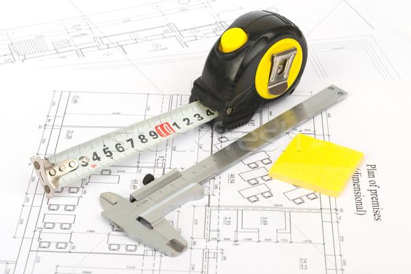 Fita métrica gráfico fita medir descobrir adesivo Foto stock © cherezoff