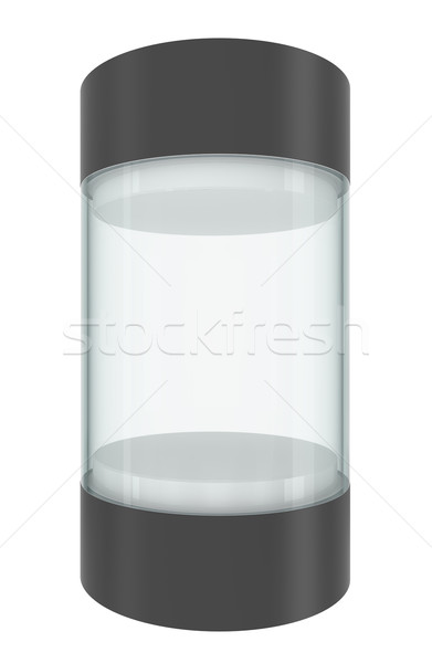 Glass empty showcase with pedestal and cap Stock photo © cherezoff