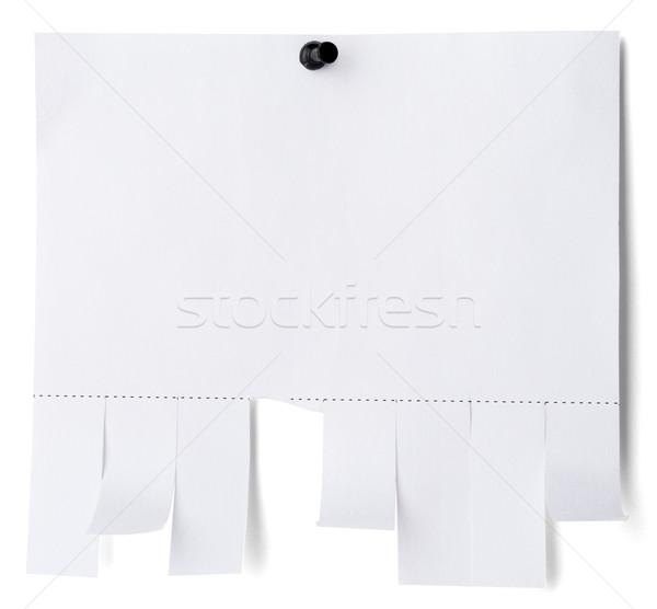 Scheur af papier schaduw muur Stockfoto © cherezoff