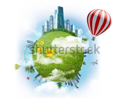 Stockfoto: Wolkenkrabbers · huis · gloeilamp · business · boom · gebouw