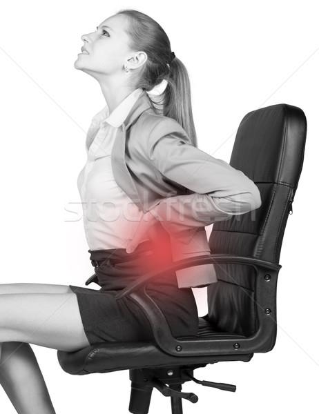 女性実業家 座って 事務椅子 孤立した ストックフォト © cherezoff