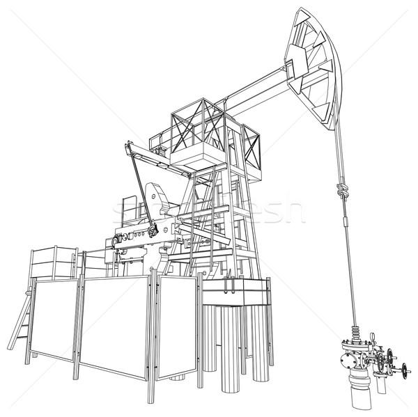 нефть насос вектора 3D подробный Сток-фото © cherezoff
