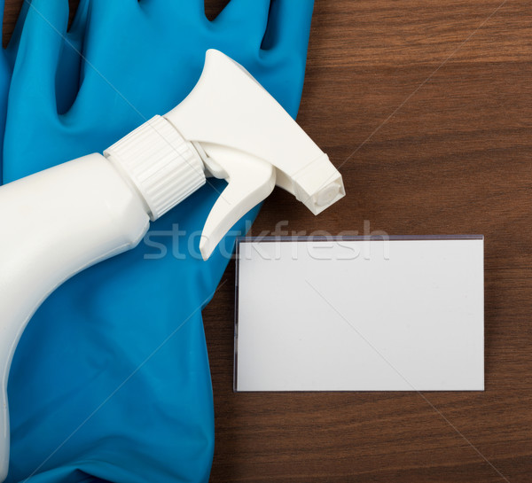 Airbrush with rubber gloves Stock photo © cherezoff