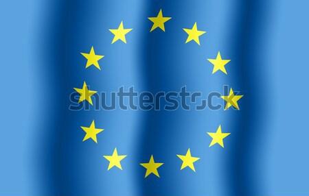 EU zászló színes csillagok közelkép kilátás Stock fotó © cherezoff