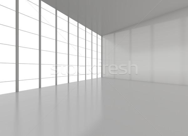 Streszczenie pustym pokoju wystawa 3d ilustracji działalności projektu Zdjęcia stock © cherezoff