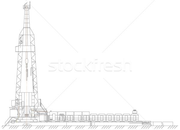 oil derrick Stock photo © cherezoff