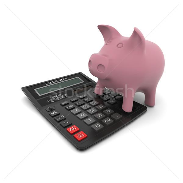 Piggy bank on the calculator Stock photo © cherezoff