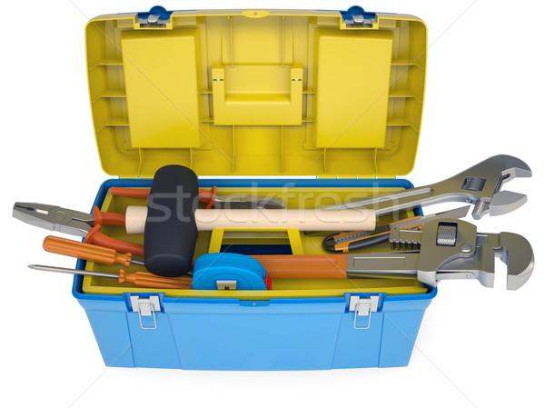 Plastic tool box with tools Stock photo © cherezoff