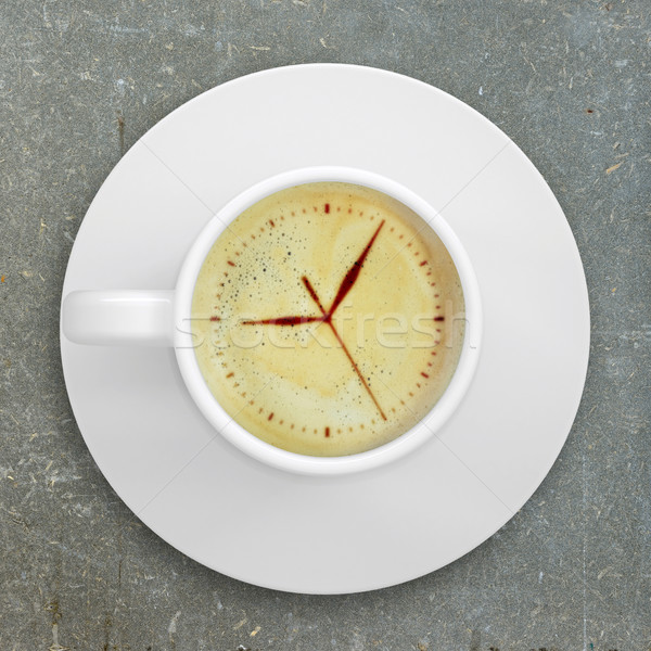Kép számlap kávé hab csésze áll Stock fotó © cherezoff