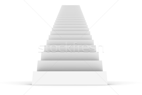 White Staircase Stock photo © cherezoff