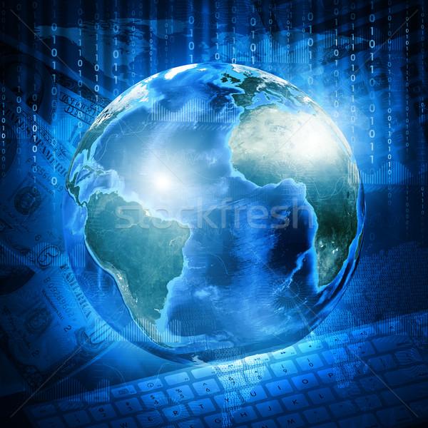 Tierra dígitos teclado dinero negocios elementos Foto stock © cherezoff