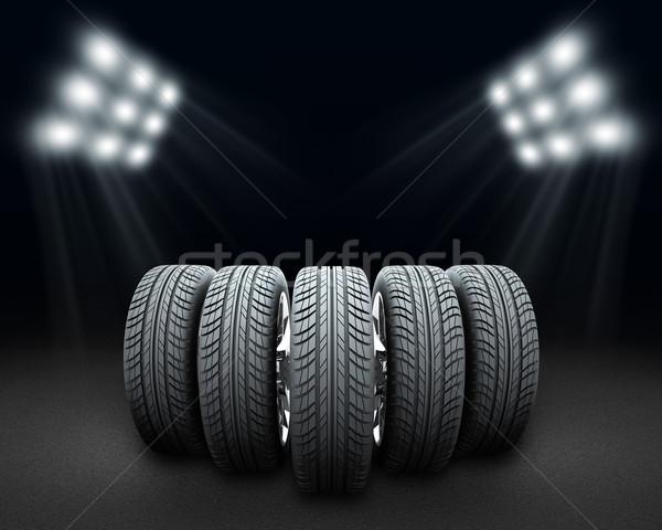 клин Новый автомобиль Колеса темно Spotlight темно-серый Сток-фото © cherezoff