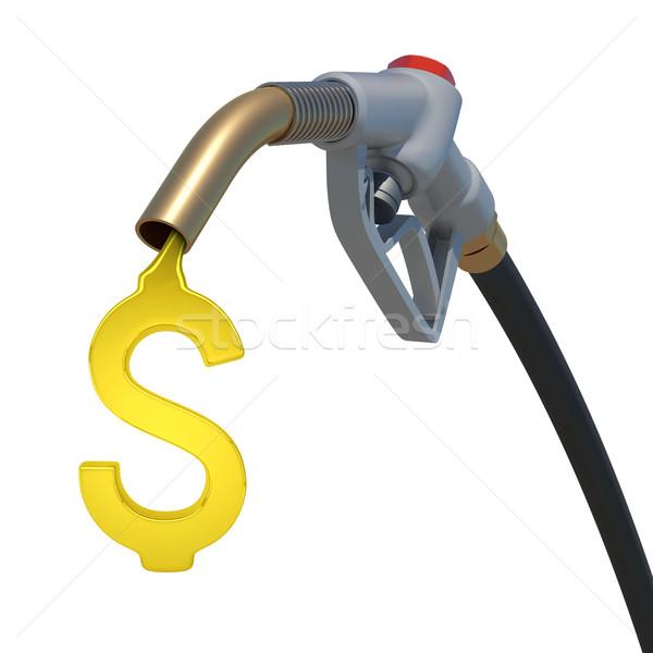 Grey hose tube with oil dollar Stock photo © cherezoff