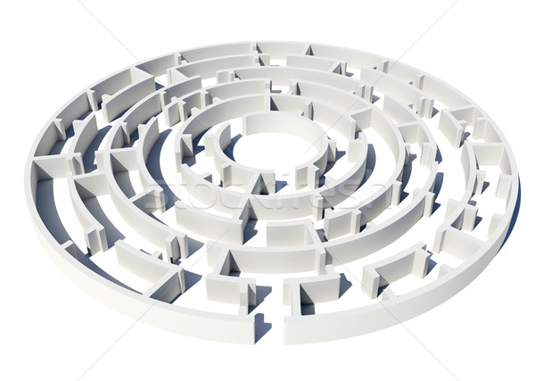 Model of labyrinth Stock photo © cherezoff