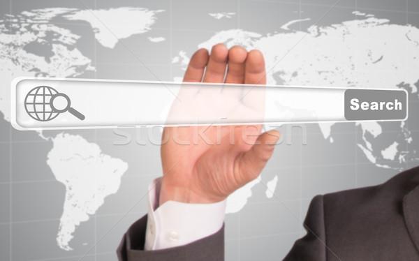 手 ブラウザ 抽象的な 世界地図 世界 ストックフォト © cherezoff