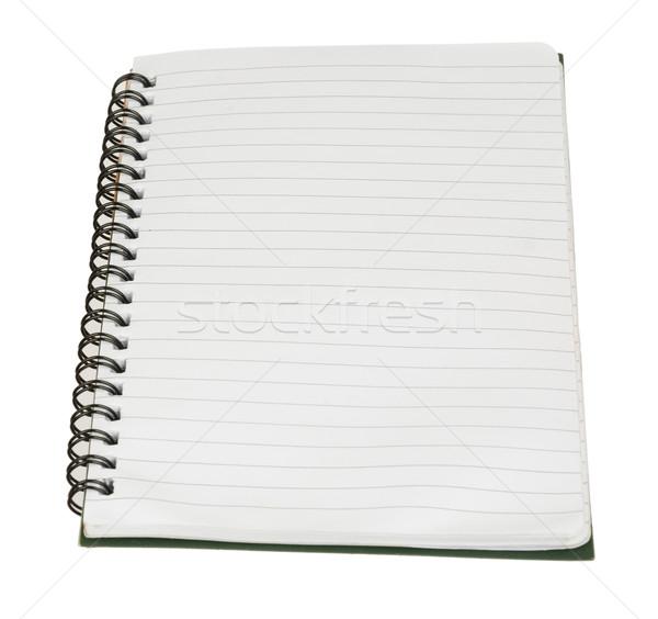 Schönschreibheft leer weiß isoliert Papier Notebook Stock foto © cherezoff