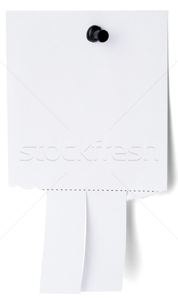 Blank white paper with tear off tabs Stock photo © cherezoff