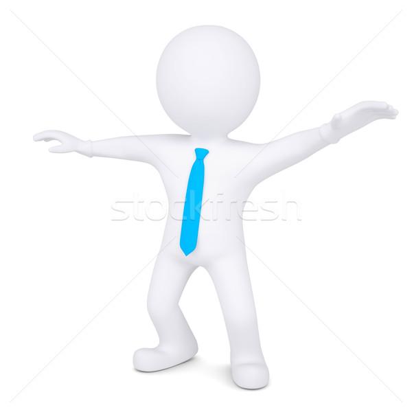 3D beyaz adam yalıtılmış vermek beyaz iş Stok fotoğraf © cherezoff