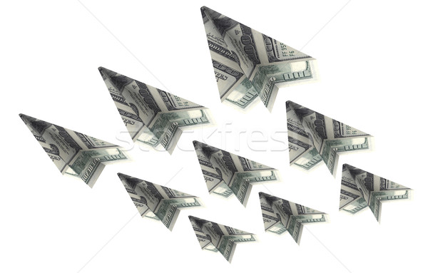 Force aircraft from the dollars is flying up Stock photo © cherezoff