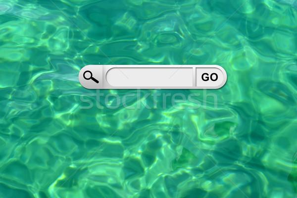 Búsqueda bar navegador turquesa superficie del agua negocios Foto stock © cherezoff