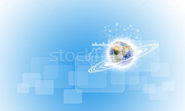 Föld grafikonok hálózat alkotóelem kép háttér Stock fotó © cherezoff